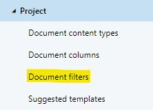 A workspace configuration's document filters