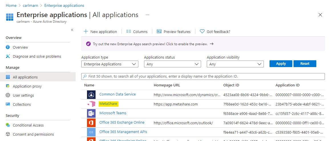 The enterprise applications