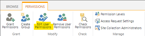 """Click on the """"Edit User Permissions"""" link"""
