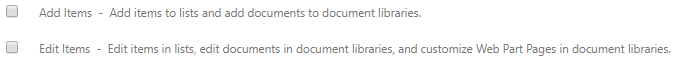 Un-check these two list permissions