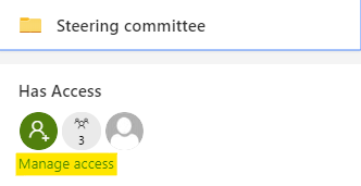 """Click on the """"Manage access"""" link"""
