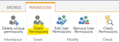 """Click on the """"Grant Permissions"""" function"""