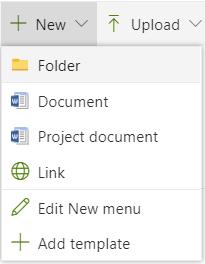 Create new document folder