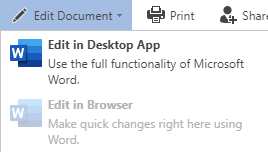 "The ""Edit Document"" functions in the toolbar, with a disabled ""Edit in Browser"" function"
