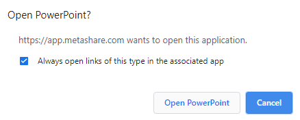 Open document prompt, with a preference setting