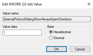 "In the ""Value data"" field, type ""1"" and then click on the ""OK"" button"