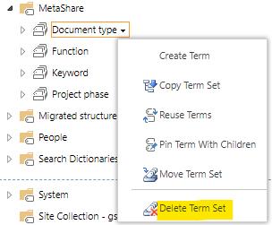 Delete a term set