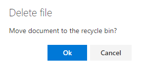 Do you want to move the documents to the recycle bin?