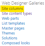 Link to site columns