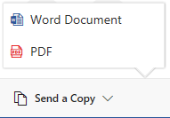 Send the document in it's original format or as a PDF