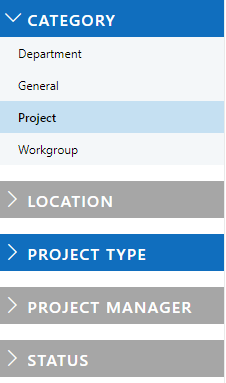 MetaShare's workspace filters indicating which filters have been selected