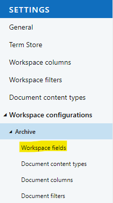 Link to MetaShare's workspace fields' page