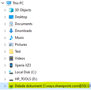 Access the network drive from File Explorer
