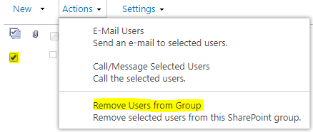 Remove users from group
