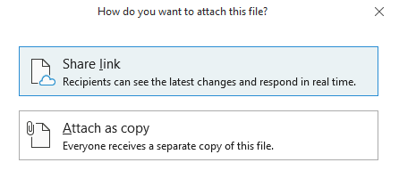 Choose how you want to share the file