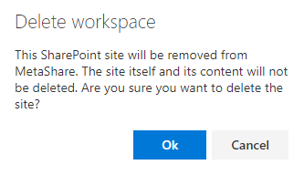 Confirm the deletion of the SharePoint site