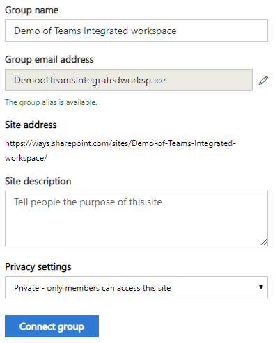 """Click on the """"Connect Group"""" button"""