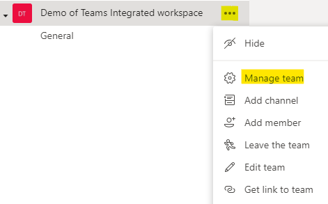 You can now manage the team's permissions