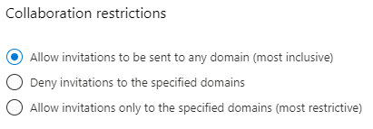 Make sure that the domains of the guests that you want to collaborate with aren't blocked